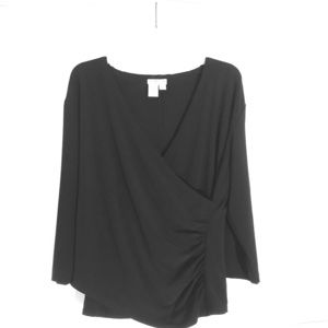 Large black wrap top